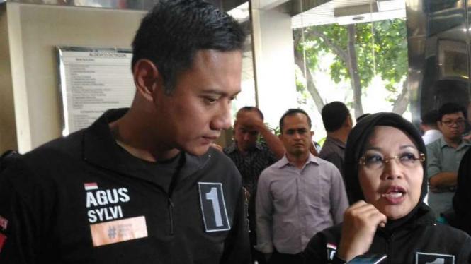 Calon Gubernur DKI Jakarta, Agus Harimurti Yudhoyono, dan Sylviana Murni