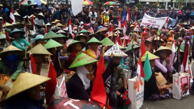 Ilustrasi Ratusan petani gelar unjuk rasa di depan kantor Pemprov Jawa Tengah