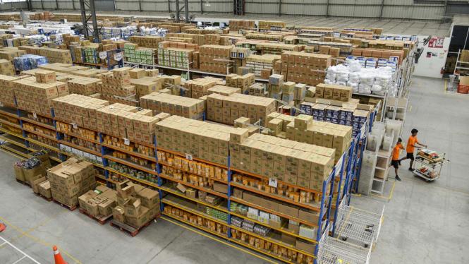 Gudang penyimpanan barang e-commerce. Foto ilustrasi