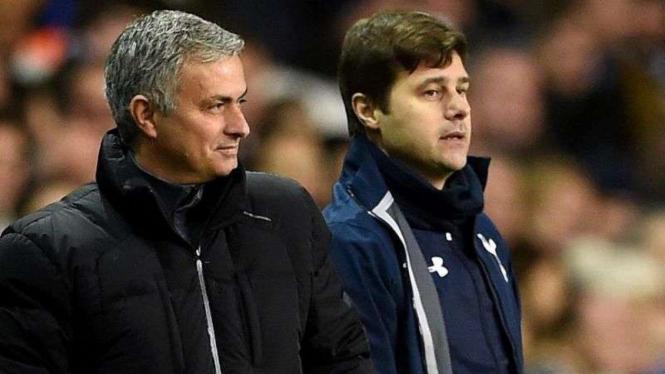 Jose Mourinho (kiri) dan Mauricio Pochettino (kanan)