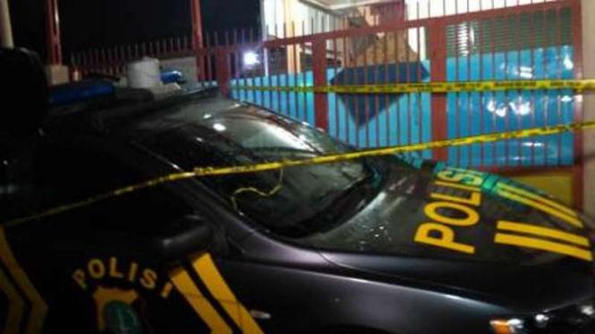 TKP kontrakan tempat ditemukannya bom di Bekasi