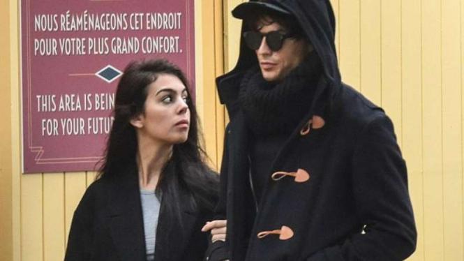 Cristiano Ronaldo dan pacarnya, Georgina Rodriguez.