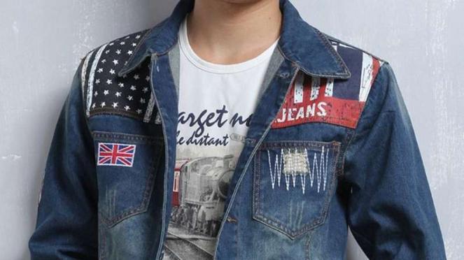 Jaket jeans motor.