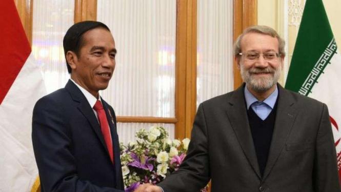 Presiden Jokowi dan Presiden Iran Hassan Rouhani.