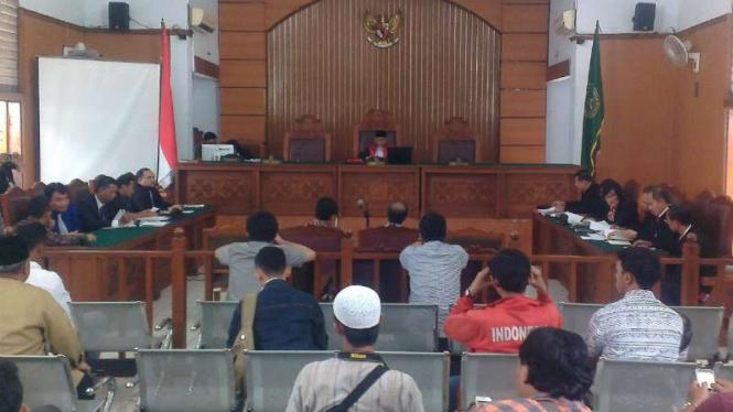 Suasana sidang praperadilan Buni Yani di PN Jakarta Selatan