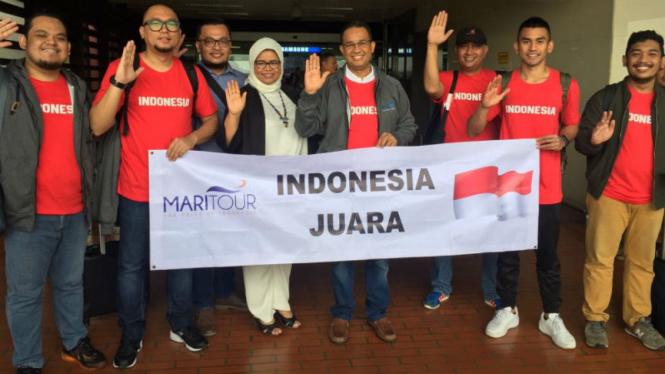 Calon Gubernur DKI Jakarta, Anies Baswedan nonton AFF langsung ke Thailand