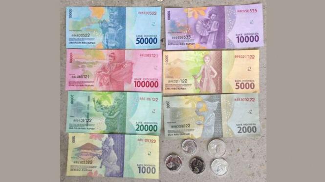 Uang rupiah tampak Penari