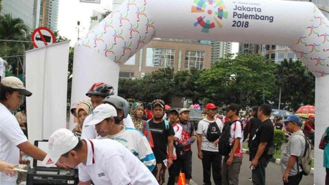 Suasana acara sosialisasi Asian Games 2018.