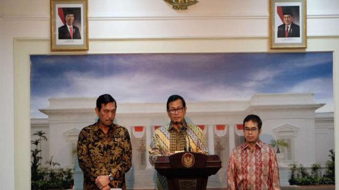Sekretaris Kabinet Pramono Anung di Istana Negara
