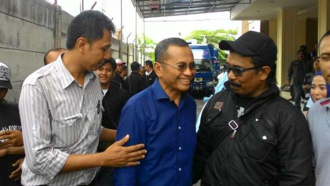 Dahlan Iskan di Pengadilan Tindak Pidana Korupsi Surabaya.