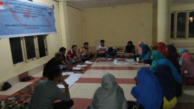 Rapat Tahunan Anggota Rayon (RTAR) PMII FKM UMI berlangsung  di Masjid Aldawiyah, Perumahan Dosen UMI, Jalan Reacing Centre, Makassar.