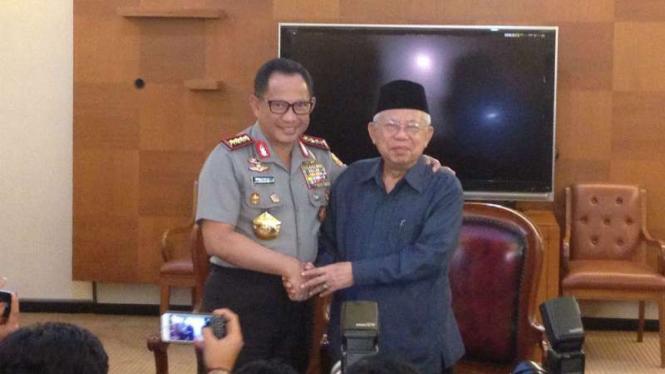 Kapolri Tito Jenderal Tito Karnavian dan Ketua MUI Maruf Amin