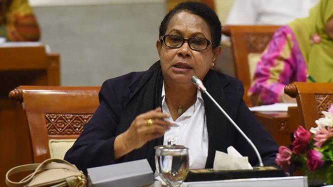Menteri Pemberdayaan Perempuan dan Perlindungan Anak Yohana Yambise (Mama Yo)