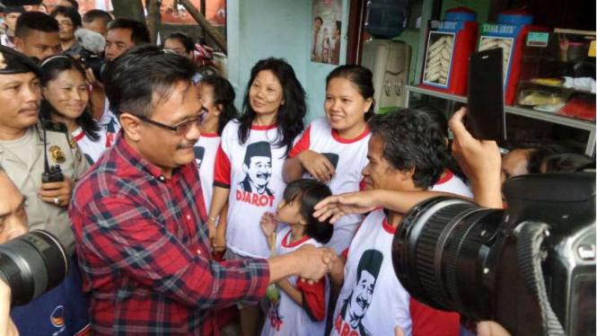 Djarot Saiful Hidayat kampanye di Kawasan Kalibata