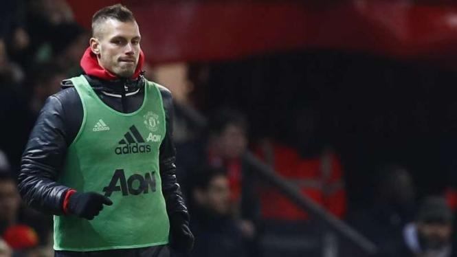 Gelandang Manchester United, Morgan Schneiderlin.