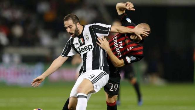 Pertandingan Juventus kontra AC Milan di ajang Supercoppa Italia