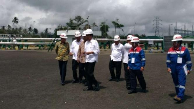 Presiden Jokowi saat kunjungan kerja ke PLTP Lahendong Unit V dan VI