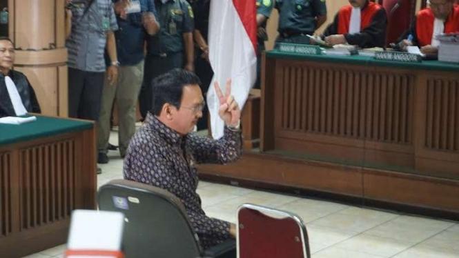 Basuki Tjahaja Purnama alias Ahok di PN Jakarta Utara.