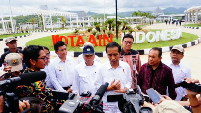 Presiden RI Joko Widodo meresmikan Pos Lintas Batas Negara (PLBN) di Atambua NTT