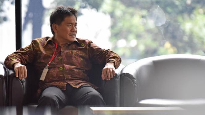 Anggota Komisi V DPR Fraksi PKB Musa Zainuddin berada di ruang tunggu sebelum menjalani pemeriksaan di Gedung KPK Jakarta, Selasa (27/12/2016).