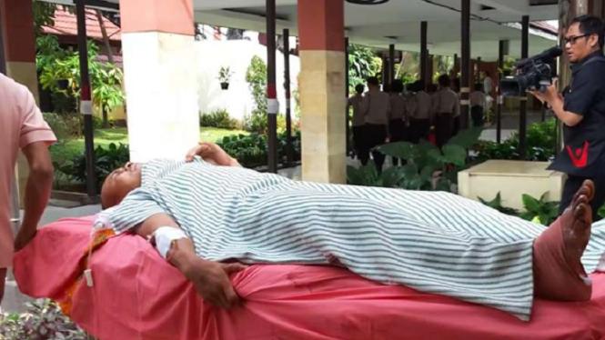 Erwin Situmorang saat dipindah ke Ruang Cenderawasih, RS Polri.