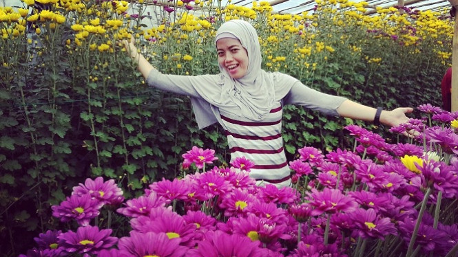 Kebun bunga Setiya Aji.