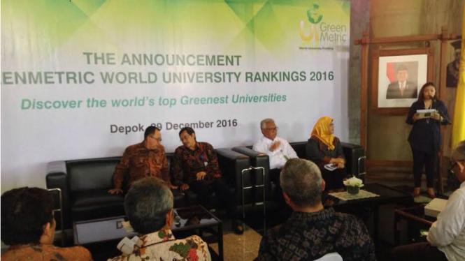 Pengumuman UI GreenMetric World University Ranking 2016