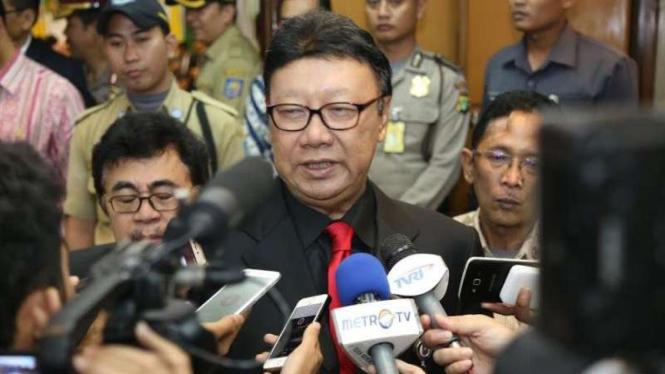 Menteri Dalam Negeri Tjahjo Kumolo.