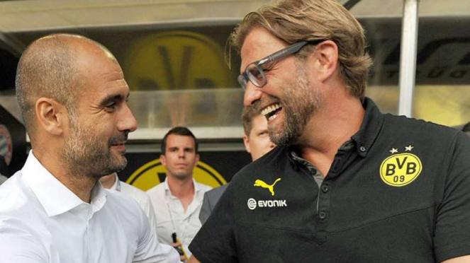 Pep Guardiola dan Juergen Klopp