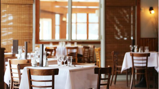 Ilustrasi restoran/kafe.