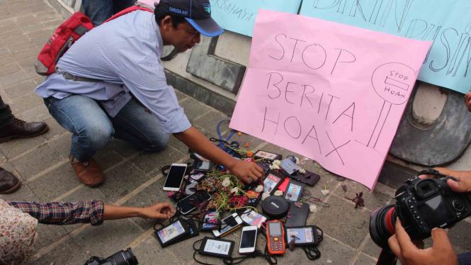 Jurnalis deklarasi ANTI-HOAX di Bengkulu