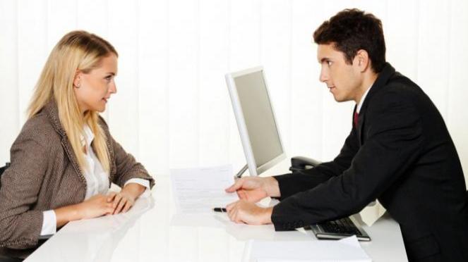 Ilustrasi wawancara kerja.