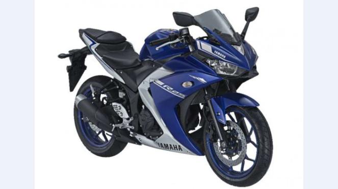 Yamaha R25 dengan warna dan grafis terbaru.