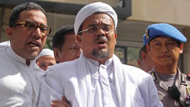 Imam Besar Front Pembela Islam (FPI), Rizieq Shihab.