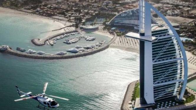 Keindahan Kota Dubai, Uni Emirat Arab.