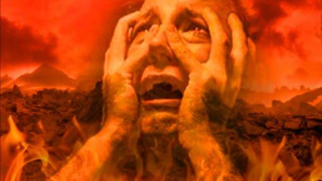 Ilustrasi penghuni neraka.