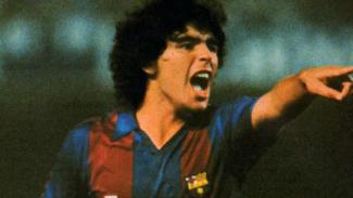 Diego Maradona saat berkostum Barcelona