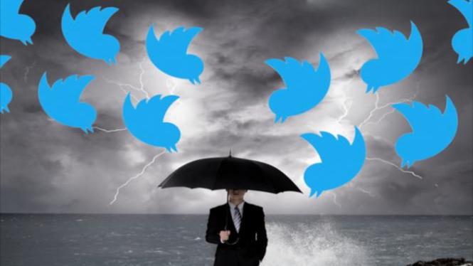 Ilustrasi cuitan di Twitter.
