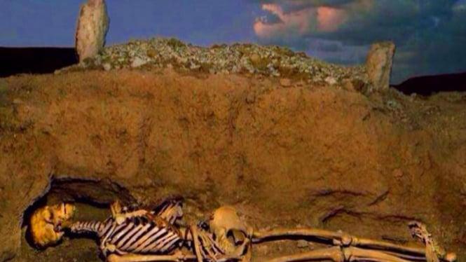 ilustrasi jasad dalam kubur.
