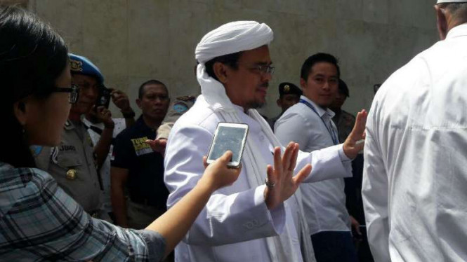 Imam besar Front Pembela Islam Rizieq Shihab