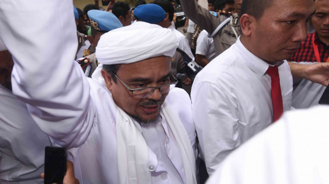 DPO kasus dugaan pornografi, Habib Rizieq saat berada di Indonesia.