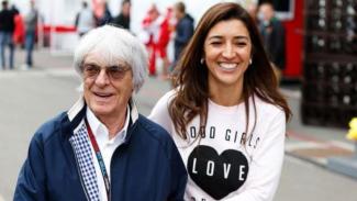 Bernie Ecclestone dan istrinya Fabiana Flossi.