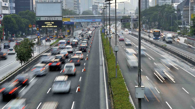 Pemberlakuan Contra Flow di Tol Dalam Kota Jakarta