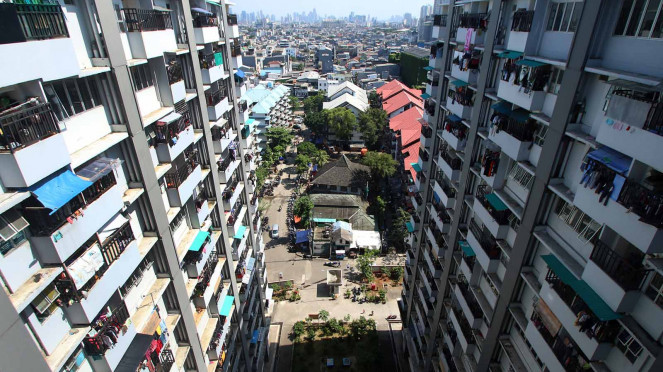 Ilustrasi rusun di Jakarta