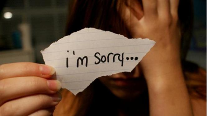Ilustrasi meminta maaf.