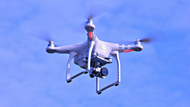 Ilustrasi drone.