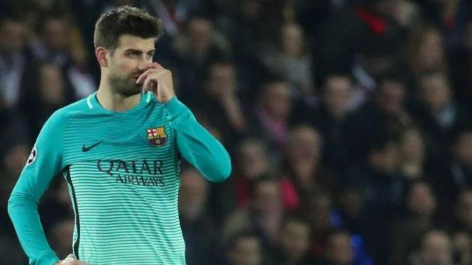 Pemain belakang Barcelona, Gerard Pique