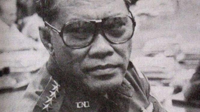LB Moerdani saat menjabat Menhankam/Pangab.