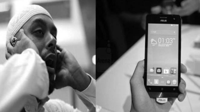 IIlustrasi antara azan dan deringan ponsel.