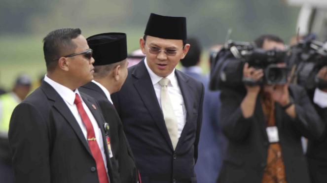 Calon gubernur DKI Jakarta, Basuki Tjahaja Purnama.